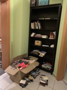 Aktueller Stand beim Bücherregal